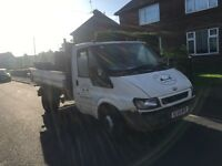 2006 ford transit tipper 85k needs prop/diff
