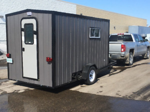 ULTIMATE ICE FISHSHACK with DROPDOWN TRAILER