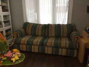 Free pull out couch , non smoking home, good condition