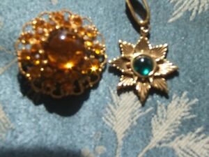 VINTAGE BROOCH AND PENDANT