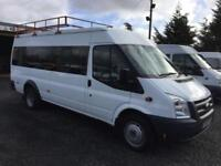 Ford TRANSIT 17 seat lwb 115 bhp only 56,000 miles
