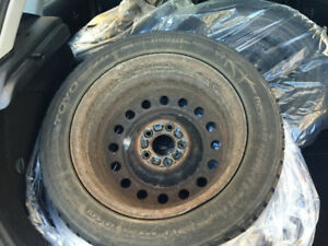 Winter Tires on Rims 205/55R16 - Almost New