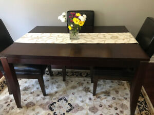 Dark Brown Dining Room Table  $175- Great Starter set!