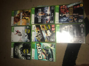 Xbox 360 games for sale (each game $15 each game $15)