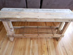 Handmade rustic bench table