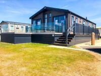 ABI Harrogate Luxury Lodge on seaside caravan park Barmston Beach includes Deck