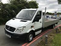 Mercedes Sprinter 313 3.5T XLWB Extra Long 20ft Load Length Dropside, Low Miles
