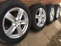 "As New 18"" VW Transporter T5 alloy wheels +Dunlop tyres Load rated 1000kg T30 T32 5x120 Amarok"