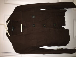 Cute heavy cotton brown bomber jacket