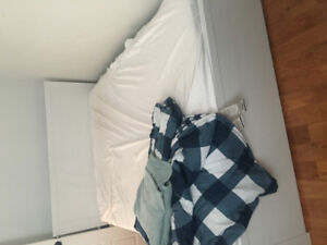 Full Bed Frame and Mattress For Sale $90 CAD