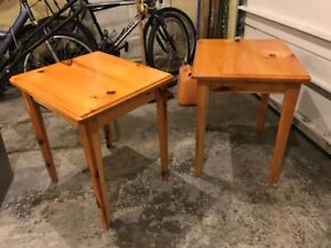 End Tables - Solid Pine Matched Set
