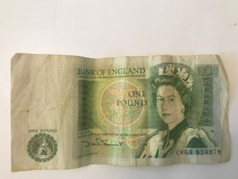 One Pound Bank of England note