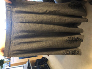 Grey embroidered skirt size 12 petite asking $5 see pictures