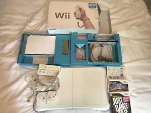 Wii Bundle (console, games, balance board, controllers)