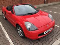 2002 02 Red Toyota MR2 1.8 VVT-i Roadster