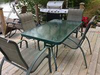 Table rectangle 4 chaises