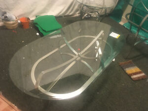 2 new glass matching coffee tables $120