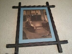 Very Nice Vintage Arts and Crafts Framed Print