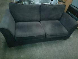Dark grey 3 seater sofa