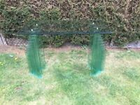 ART DECO STYLE GLASS TABLE. EXTREMELY STYLISH AND TOP QUALITY
