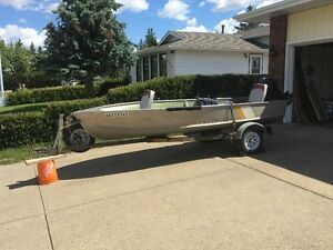 14' Fishing Boat, Trailer and Motor