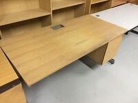 Used office desk with built in drawers - 3 available