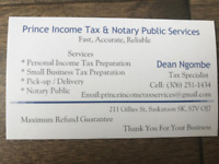 Prince Income Tax Services starting at $40