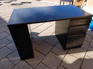 Wooden black desk