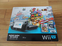 Nintendo Wii U 32 GB Console with Five Video Games for Sale!