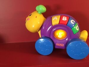 Fisher Price Laugh & Learn Roll Along Snail - Great condition!