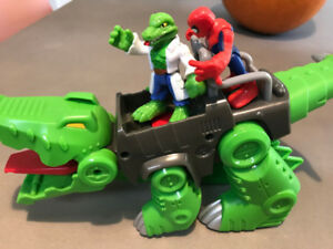 Imaginext Superhero Adventure Spider Man Lizard Playskool Heroes