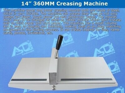 New Manual 14 Scoring Paper Creasing Machine Fold Creaser Clean Folding