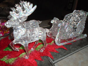really pretty reindeer and sleigh decoration Stratford Kitchener Area image 2