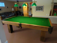 "National Billiards Pool Table 8' x 4' /w 3/4"" Slate Bed"