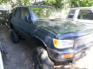 """1996 Toyota 4Runner 3.4L 4x4 3"""" Body + 3"""" Susp Lots of Parts Inc London Ontario image 3"""