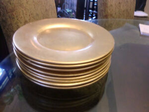 PIER 1 Imports (8) gold charger plates