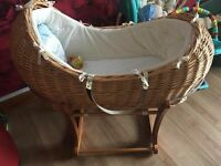 mothercare 'snug' Moses basket