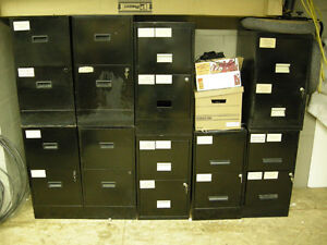 BLACK FILE FILING CABINETS FOR OFFICES OR HOME FILES RETAIL $60