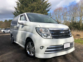 FRESH IMPORT 54 PLATE FACE LIFT NISSAN ELGRAND RIDER V6 AUTO FOUR WHEEL DRIVE