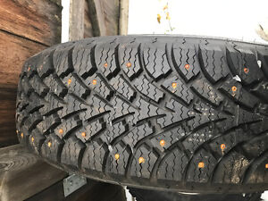 4 215/70r15 brand new studded tires