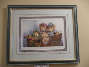 "Laura Berry Signed print ""Sleigh Bears"""