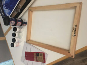 New, unopened Screen printing supplies