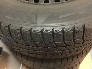 Michelin X Ice Tires (235/70/16) + Rims  (5x114.3)