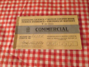 1942 Gas Ration Book