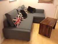 Ikea Friheten corner sofa charcoal grey - pull out sofa bed - couch settee