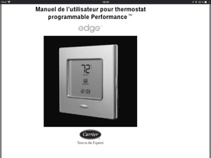 Thermostat Carrier programmable
