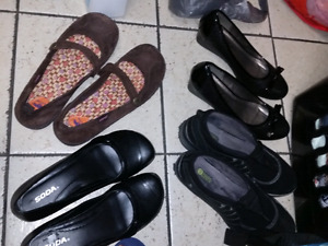 4 pairs womans size 9.5-10 shoes