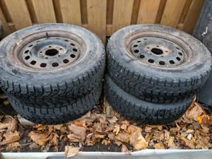WINTER TIRES: Firestone Winterforce 185/75/14 on 5x115 wheels