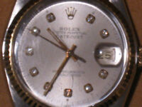 ROLEX DATEJUST PERPETUALE EN OR ET SS--ROLEX GOLD AND SS