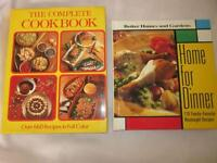 2 LG Hard cover Cook Books